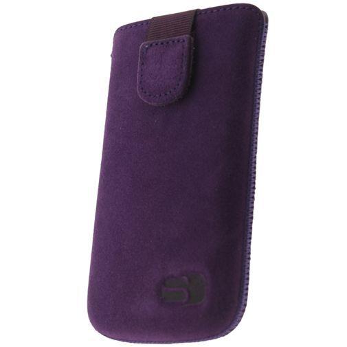 Productafbeelding van de Senza Suede Slide Case Velvet Purple Size XXL