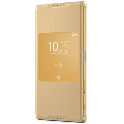 Productafbeelding van de Sony Style Cover Gold Xperia Z5 Premium