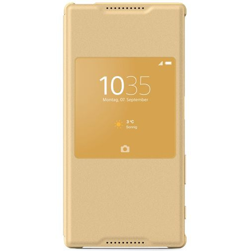 Productafbeelding van de Sony Style Cover Gold Xperia Z5