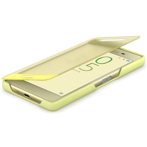 Productafbeelding van de Sony Style Cover Touch SCR50 Lime Gold Xperia X