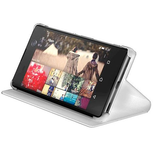 Productafbeelding van de Sony Style Cover White Xperia M5