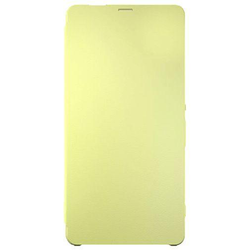Productafbeelding van de Sony Style Flip Cover SCR60 Lime Gold Xperia XA Ultra