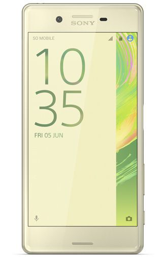 Produktimage des Sony Xperia X Lime Gold