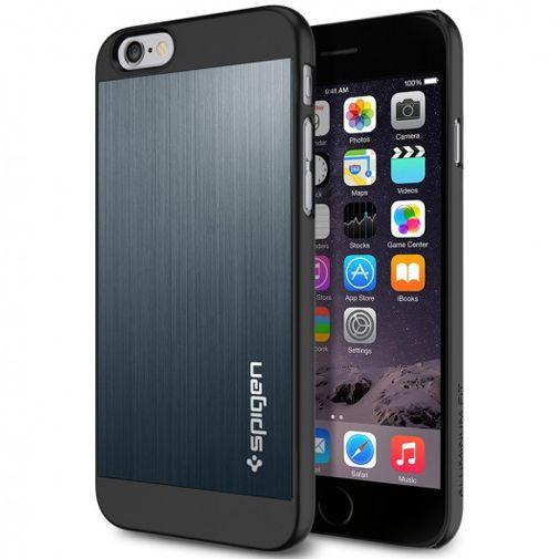 Productafbeelding van de Spigen Aluminium Fit Case Metal Slate Apple iPhone 6/6S