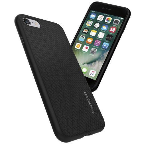 Productafbeelding van de Spigen Liquid Air Armor Case Black Apple iPhone 7/8/SE 2020