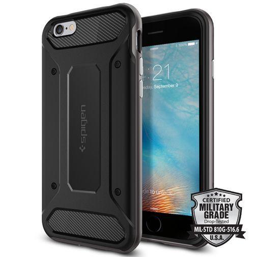 Productafbeelding van de Spigen Neo Hybrid Carbon Case Gunmetal Apple iPhone 6/6S