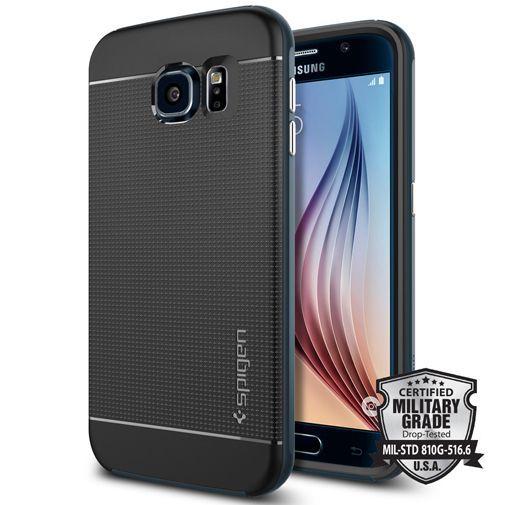 Productafbeelding van de Spigen Neo Hybrid Case Metal Slate Samsung Galaxy S6