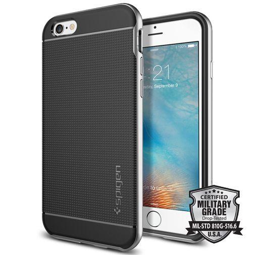Productafbeelding van de Spigen Neo Hybrid Case Satin Silver Apple iPhone 6/6S