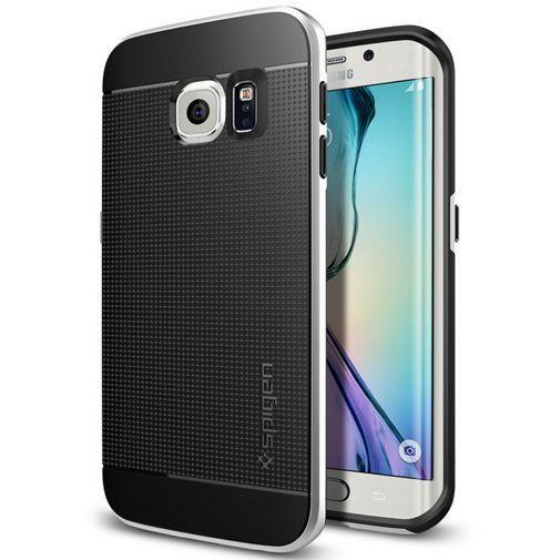 Productafbeelding van de Spigen Neo Hybrid Case Satin Silver Samsung Galaxy S6 Edge