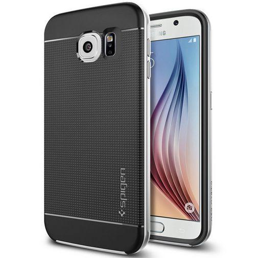 Productafbeelding van de Spigen Neo Hybrid Case Satin Silver Samsung Galaxy S6