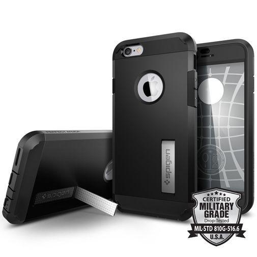 Productafbeelding van de Spigen Perfect Armor Case Black Apple iPhone 6/6S