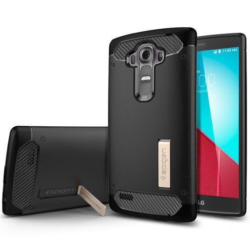 Productafbeelding van de Spigen Rugged Armor Case Black LG G4
