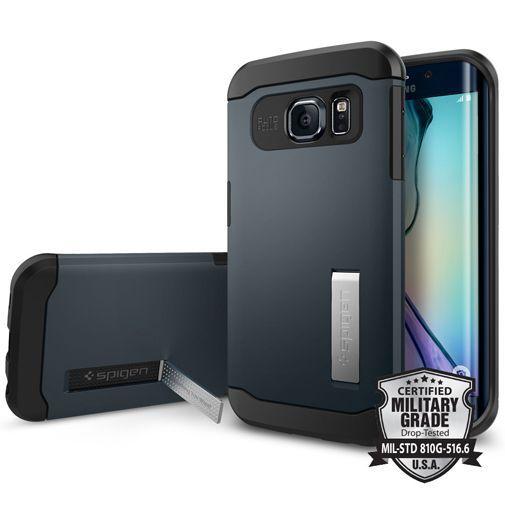 Productafbeelding van de Spigen Slim Armor Case Metal Slate Samsung Galaxy S6 Edge