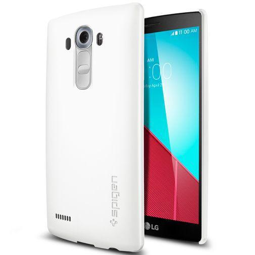 Productafbeelding van de Spigen Thin Fit Case Shimmery White LG G4