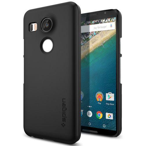 Productafbeelding van de Spigen Thin fit Case Black LG Nexus 5X