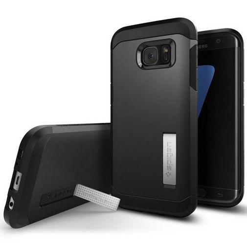 Productafbeelding van de Spigen Tough Armor Case Black Samsung Galaxy S7 Edge