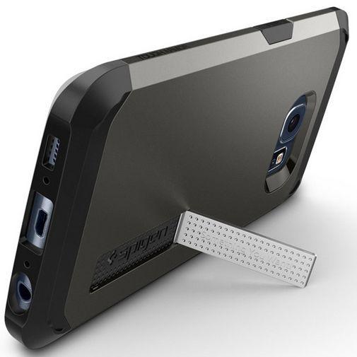Productafbeelding van de Spigen Tough Armor Case Gunmetal Samsung Galaxy S6 Edge