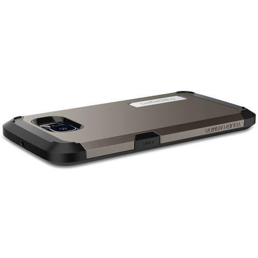 Productafbeelding van de Spigen Tough Armor Case Gunmetal Samsung Galaxy S6