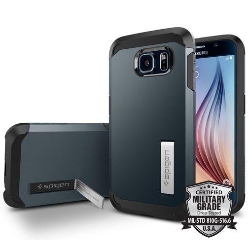 Productafbeelding van de Spigen Tough Armor Case Metal Slate Samsung Galaxy S6