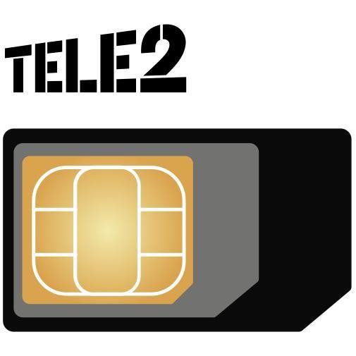 Productafbeelding van de Tele2 vervangende 3-in-1 simkaart