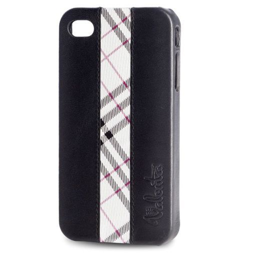 Productafbeelding van de Valenta iPhone 4 Snapon Cover Leather Black/Squares