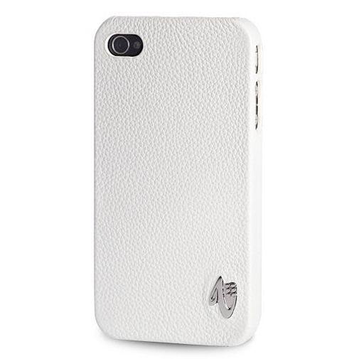 Productafbeelding van de Valenta iPhone 4 Snapon Cover Leather White
