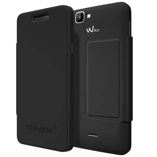 Productafbeelding van de Wiko Booklet Case Black Wiko Rainbow 4G