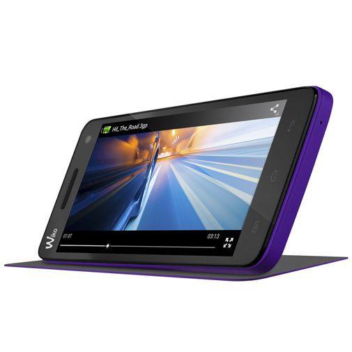Productafbeelding van de Wiko Booklet Case Purple Wiko Rainbow