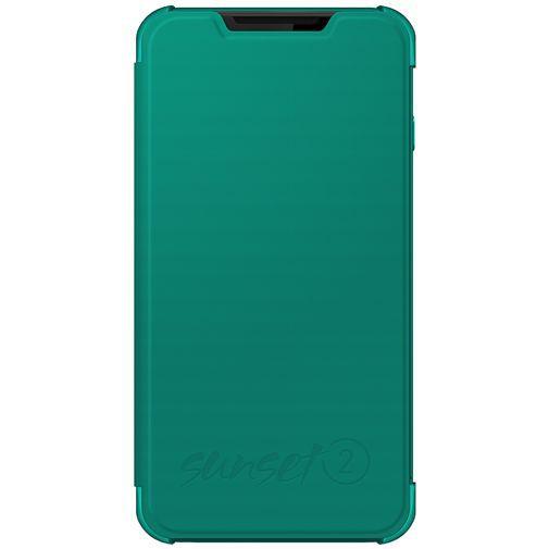 Productafbeelding van de Wiko Booklet Case Turquoise Wiko Sunset 2