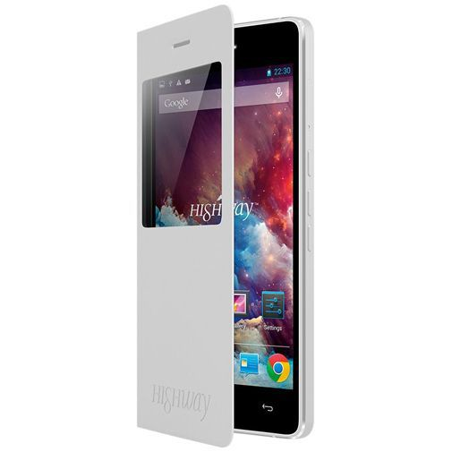 Productafbeelding van de Wiko Booklet View Cover White Wiko Highway