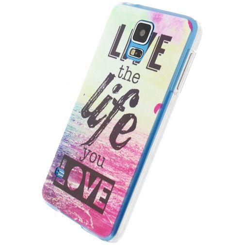 Productafbeelding van de Xccess Cover Live Life Love Samsung Galaxy S5/S5 Plus/S5 Neo