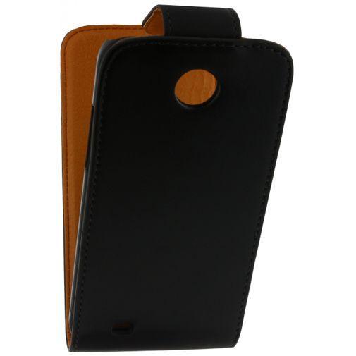 Productafbeelding van de Xccess Leather Flip Case Black HTC Desire 300