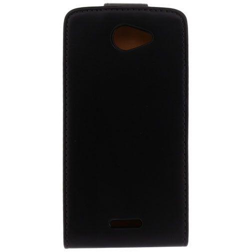 Productafbeelding van de Xccess Leather Flip Case Black HTC Desire 516