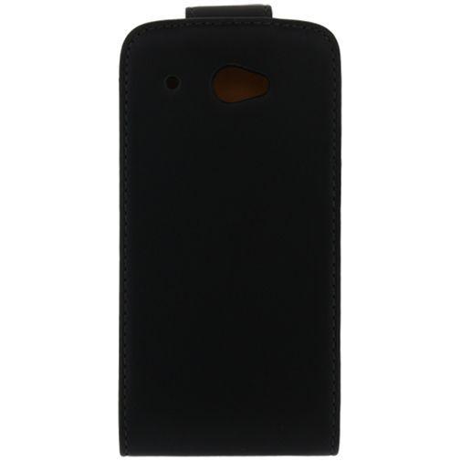 Productafbeelding van de Xccess Leather Flip Case Black HTC Desire 601