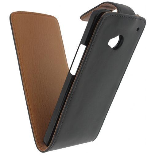 Productafbeelding van de Xccess Leather Flip Case Black HTC One