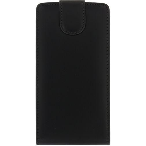 Productafbeelding van de Xccess Leather Flip Case Black Huawei Ascend G700