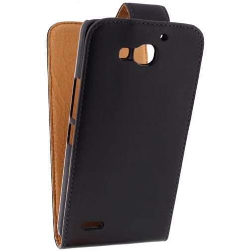 Productafbeelding van de Xccess Leather Flip Case Black Huawei Ascend G750