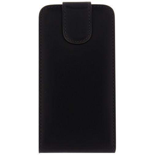Productafbeelding van de Xccess Leather Flip Case Black Huawei Ascend Y530
