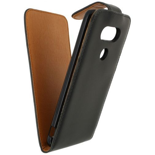 Productafbeelding van de Xccess Leather Flip Case Black LG G5 (SE)