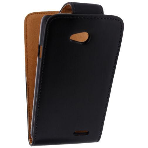 Productafbeelding van de Xccess Leather Flip Case Black LG L70