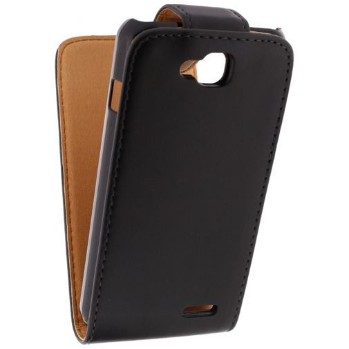 Productafbeelding van de Xccess Leather Flip Case Black LG L90