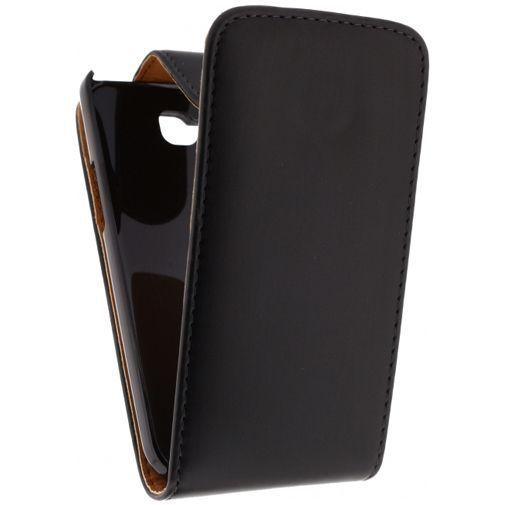 Productafbeelding van de Xccess Leather Flip Case Black LG L90