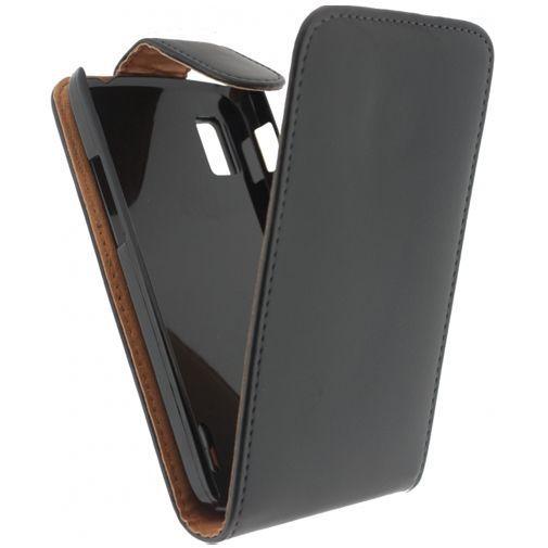 Productafbeelding van de Xccess Leather Flip Case Black LG Nexus 4 E960