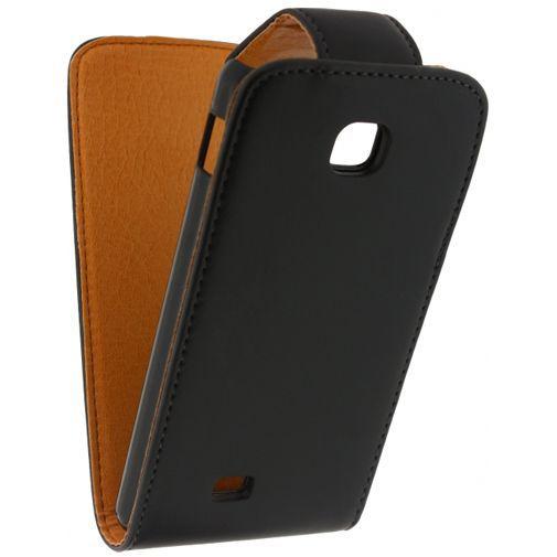 Productafbeelding van de Xccess Leather Flip Case Black LG Optimus F5