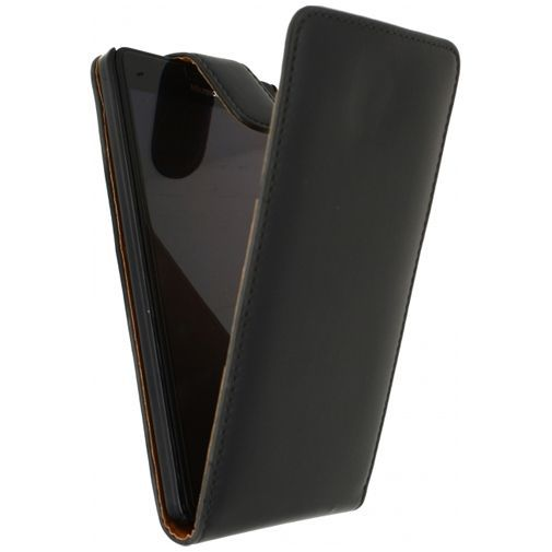 Productafbeelding van de Xccess Leather Flip Case Black Microsoft Lumia 950 XL