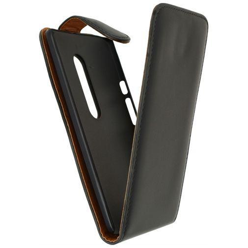 Productafbeelding van de Xccess Leather Flip Case Black Motorola Moto X Play