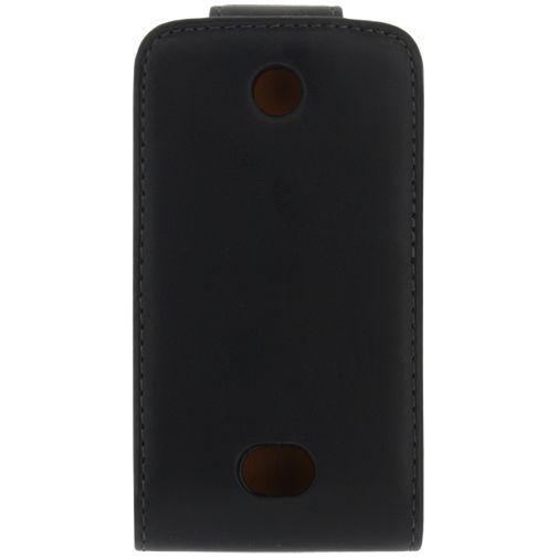 Productafbeelding van de Xccess Leather Flip Case Black Nokia Asha 501