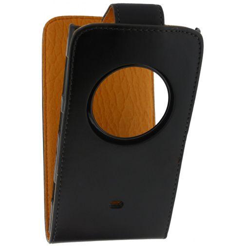 Productafbeelding van de Xccess Leather Flip Case Black Nokia Lumia 1020