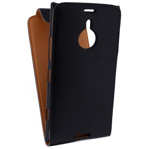 Productafbeelding van de Xccess Leather Flip Case Black Nokia Lumia 1520