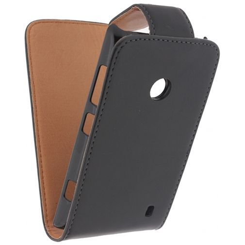 Productafbeelding van de Xccess Leather Flip Case Black Nokia Lumia 520
